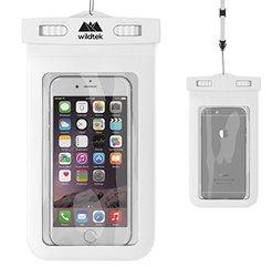 Wildtek Waterproof Case with Adjustable Neck Strap - White