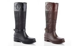 Snow Tec Queen-16 Women's Waterproof Riding Boot - Black - Size: 8.5