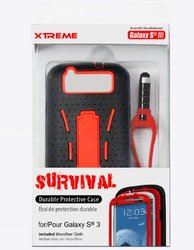 Xtreme Survival Durable Protection for Samsung Galaxy S3 - Red