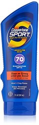 Coppertone Sport Sunscreen SPF-70 Lotion - 4 Bottles - 7 fl. oz. each
