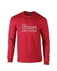 NCAA St. John'S Red Storm Mascot Foil Long Sleeve T-Shirt, Medium, Red