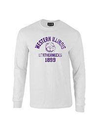 NCAA Western Illinois Leathernecks Mascot Block Arch Long Sleeve T-Shirt, Large, White