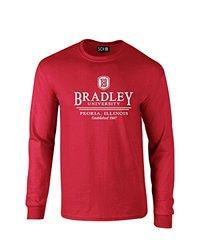NCAA Bradley Braves Classic Seal Long Sleeve T-Shirt, Medium, Red