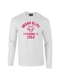 NCAA Brown Bears Mascot Block Arch Long Sleeve T-Shirt, Large, White