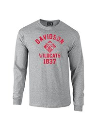 NCAA Unisex Davidson Wildcats Mascot Block Long Sleeve T-Shirt - Grey - M