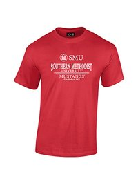 NCAA Smu Mustangs Classic Seal T-Shirt - Red - XX-Large