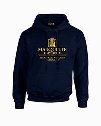 NCAA Marquette Golden Eagles Seal Long Sleeve Hoodie - Navy - Size: Large