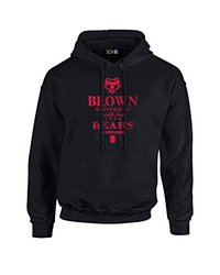 NCAA Brown Bears Stacked Vintage Long Sleeve Hoodie, Small, Black