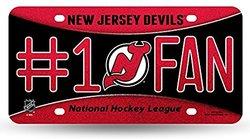 New Jersey Devils #1 Fan Metal License Plate Multi/None