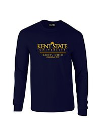 NCAA Kent State Golden Flashes Classic Seal Long Sleeve T-Shirt, Small, Navy