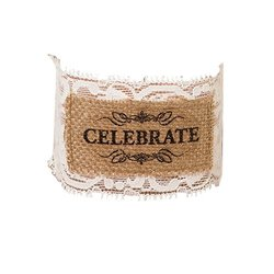 "Lillian Rose ""CELEBRATE"" Burlap Glass Wrap - Set of 6"