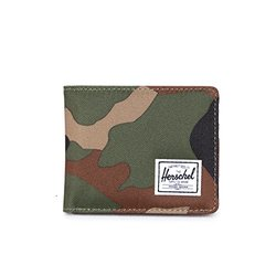 Herschel Supply Co. Hank Coin Wallet, Woodland Camo/Black Pup, One Size