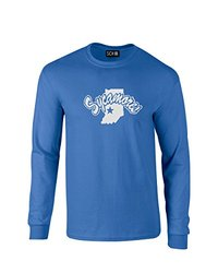 NCAA Indiana State Sycamores Mascot Foil Long Sleeve T-Shirt, XX-Large, Royal