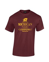 NCAA Central Michigan Chippewas Stacked Vintage T-Shirt, XX-Large, Maroon