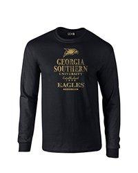 NCAA Georgia Southern Eagles Stacked Vintage Long Sleeve T-Shirt, Small, Black