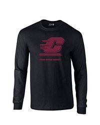 NCAA Central Michigan Chippewas Mascot Foil Long Sleeve T-Shirt, XX-Large, Black