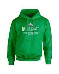 NCAA Delta State Statesmen Classic Seal Long Sleeve Hoodie, XX-Large, Irish Green