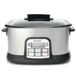 CC 6.5 qt 1500W Ceramic Nonstick 11-in-1 Digital Cooker - Stainless Steel