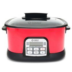 Cook's Companion 6.5 Qt Ceramic Nonstick 11-in-1 Digital Cooker - Red