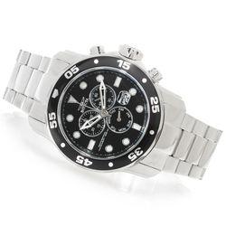 Invicta Men's 48mm Pro Diver Scuba Quartz Chrono Bracelet Watch - Black