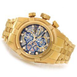 Invicta Reserve Men's Bolt Zeus SW500 Dial Bracelet Watch - Goldtone/Blue