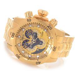 Invicta Reserve Men's Venom Polyurethane Strap Watch - Goldtone