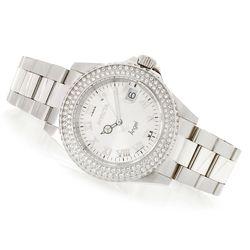 Invicta Women's 32mm Angel Crystal MOP Dial Bracelet Watch - Silvertone