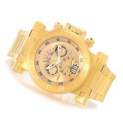 Men's 17643 51mm Coalition Forces Swiss Made Bracelet Watch - Goldtone
