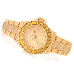 Women's 38mm Collins Quartz Swarovski Stainless Bracelet Watch - Yellow
