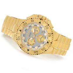 Invicta Reserve Excursion Z60 Carbon Fiber Dial Bracelet Watch - Goldtone