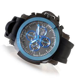 Invicta Reserve Man's Automatic Chronograph Silicone Strap Watch - Blue