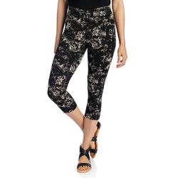 Kate & Mallory Women's Knit Pull-on Capri Leggings - Mineral Wash - Sz: 1X