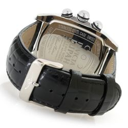 Men's 60mm Grand Lupah Quartz Watch w/ 5-Pc Leather Strap Set - Goldtone