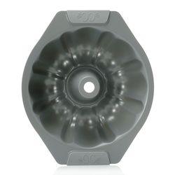 """CC Ceramic Nonstick 11"""" Savarin Pan & 12-Cup Mini Savarin Pan Set - Silver"""