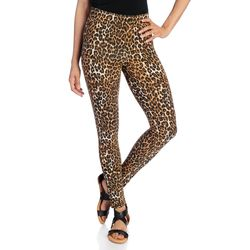 Kate & Mallory Women's Knit Pull-on Ankle-Length Leggings - Animal - Sz: M
