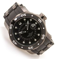 Invicta Men's Scuba Pro Diver Quartz Polyurethane Strap Watch - Gunmetal