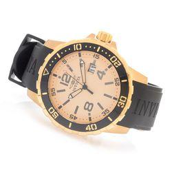 Invicta Men's 45mm Specialty Quartz Pu Strap Watch - Goldtone/Goldtone