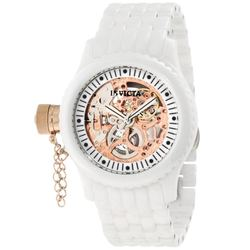 Women's 42mm Russian Diver Lefty Ceramic White Bracelet Watch - Rosetone