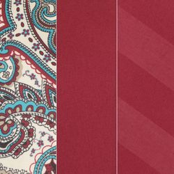 Cozelle 12-Piece Solid/Striped/Paisley Microfiber Sheet Set - Berry/Queen