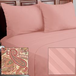 Cozelle 12pc Paisley Print Microfiber Sheet Set -Morganite/California King