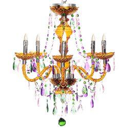 "25.5"" Crystalline & Acrylic LED Chandelier - Carnival"