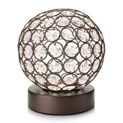 "Style at Home w/ Margie 6.5"" Wireless LED Glass Globe Accent Lamp - Bronze"