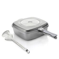Cook's Companion Cast Aluminum 5 qt UniVersa Flip Pan - Silver