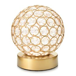 """Style at Home w/ Margie 6.5"""" Wireless LED Glass Globe Accent Lamp - Gold"""