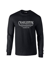 NCAA Charleston Southern Buccaneers Classic Seal Long Sleeve T-Shirt, Large, Black