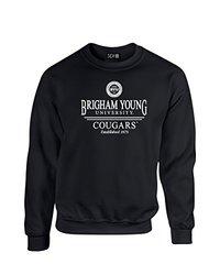 NCAA Byu Cougars Classic Seal Crew Neck Sweatshirt, XX-Large, Black