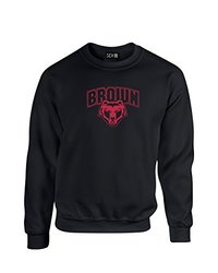 NCAA Brown Bears Mascot Foil Crew Neck Sweatshirt, X-Large, Black