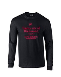 NCAA Richmond Spiders Stacked Vintage Long Sleeve T-Shirt, Medium, Black