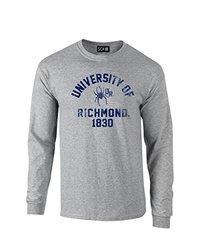 NCAA Richmond Spiders Mascot Block Arch Long Sleeve T-Shirt, Small, Sport Grey