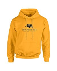 NCAA Southern Mississippi Golden Eagles Mascot Foil Long Sleeve Hoodie, X-Large, Gold